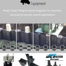 Plastic sheet piling for bank stablisation and erosion control